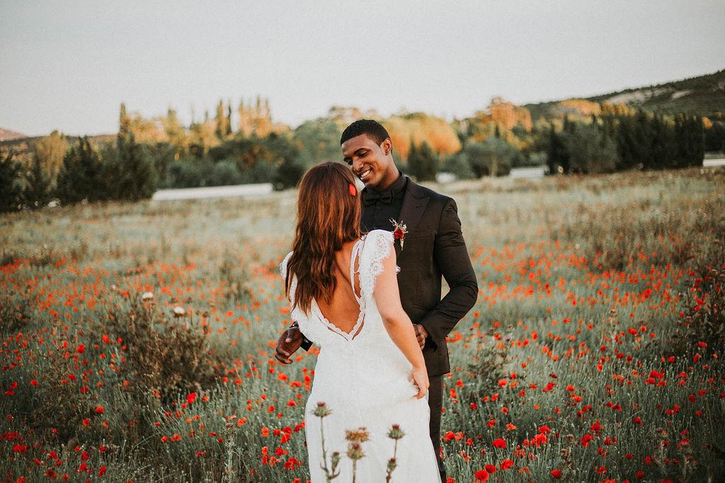 Inspiration mariage : un elopement champêtre et bohème