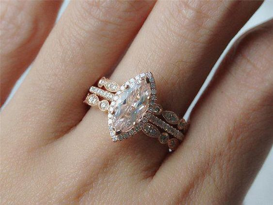 bague taille marquise