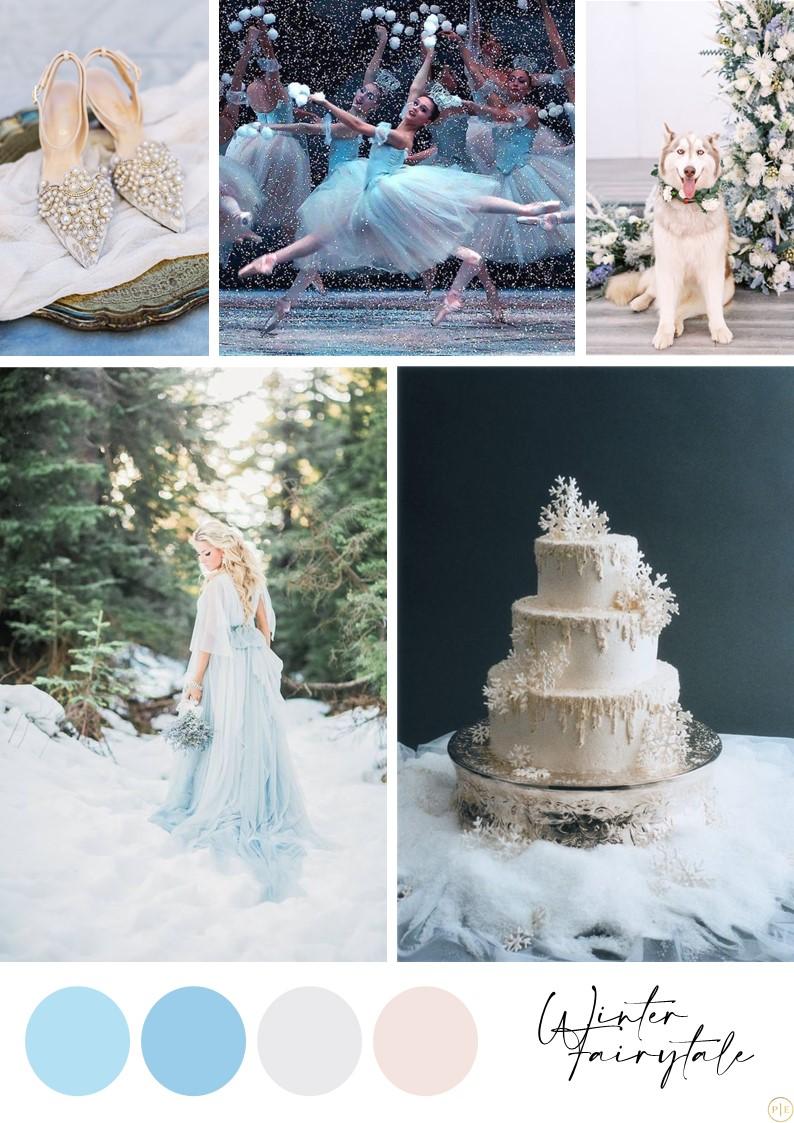 mariage decembre hiver bleu