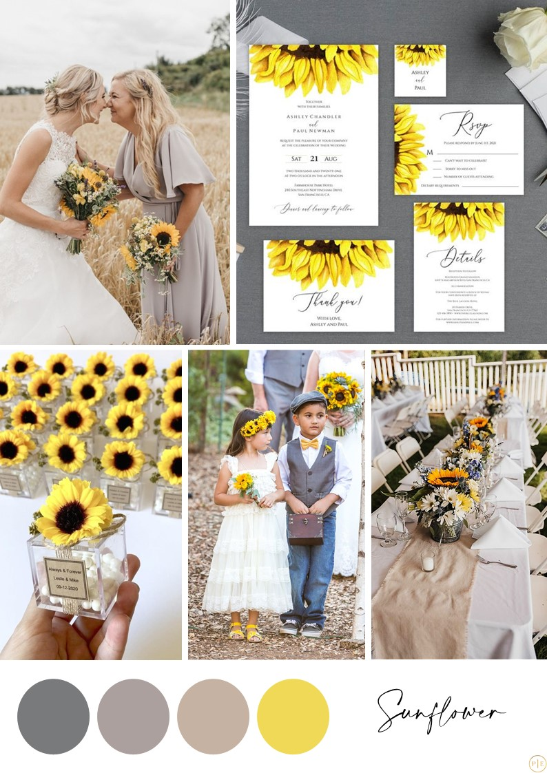 mariage jaune gris pantone 2021 20222