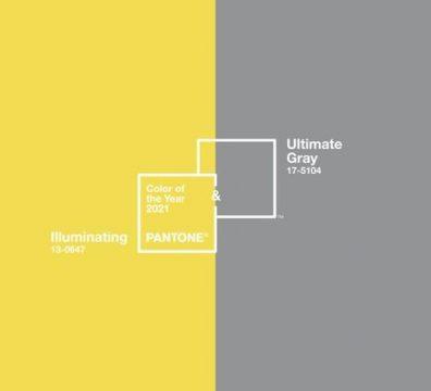 mariage couleurs pantone jaune gris